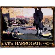 Harrogate  The  British  Spa  Tin  Sign