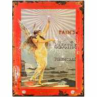 Pain's  Electric  Fireworks  Tin  Sign