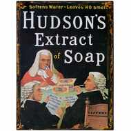 Hudson's  Extract  Of  Soap  Tin  Sign