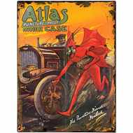 Atlas  Puncture  Proof  Inner  Case  Tin  Sign