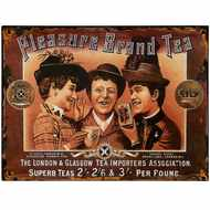 Pleasure  Brand  Tea  Tin  Sign