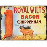 Royal Wilts Bacon Tin Sign
