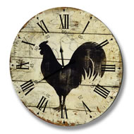 Large  Black  Cock  Clock