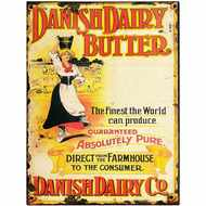 Danish  Dairy  Butter  Tin  Sign