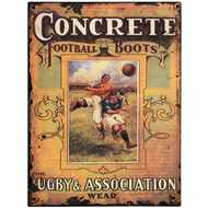 Concrete  Football  Boots  Tin  Sign