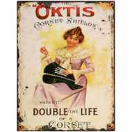 Oktis  Corset  Shields  Tin  Sign