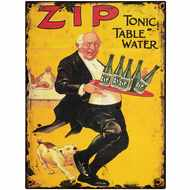 Zip  Tonic  Table  Water  Tin  Sign