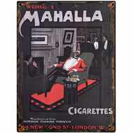 Mahalla  Cigarettes  Tin  Sign