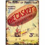 The Casket Cigarettes Tin Sign