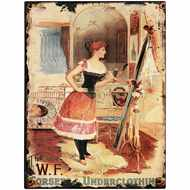 W.F Corsets Tin Sign