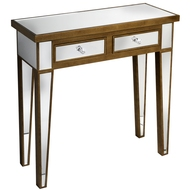 Venetian  Mirrored  2  Drawer  Console  Table