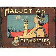 Hadjetian  Cigarettes  Tin  Sign