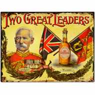 Two  Great  Leaders  Tin  Sign