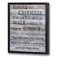 Criticize  Plaque
