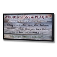 Wooden Plaques Advertising Display Sign