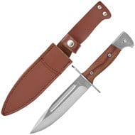 SAS bayonet knife with brown leathe sheath