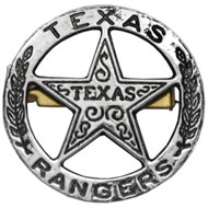 Texas Rangers Circle Star Cut Out Badge