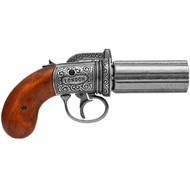 6 Cannons Pepperbox Revolver, England 1840