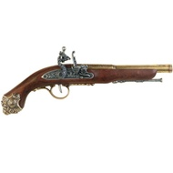 Gold Flintlock pistol, 18th. C.