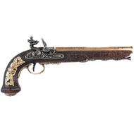 Gold Flintlock Dueling Pistol Manufactured By The Craftsman
