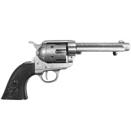 Colt  Peacemaker  With  Black  Handle  Gun  Metal  1869  Long  Barrel