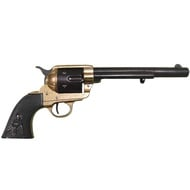 Colt Peacemaker With Black Handle Black & Brass Long Barrel
