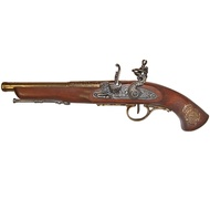 Flintlock pistol, France 18th. C. (left-handed)