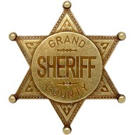 Gold Coloured Grand County Sheriff Badge