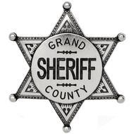Nickel Coloured Grand County Sheriff Badge