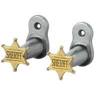 Sheriff  Star  Badge  Hanger