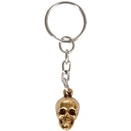 Gold Skull Key Ring