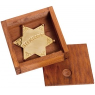 Gold Sheriff Star Badge In Box