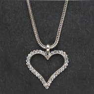 Heart  With  Rope  Chain  Necklace