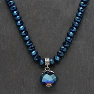 Petrol  Blue  Beaded  Necklace