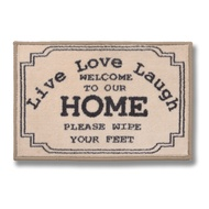Set  Of  Two  Live  Love  Laugh  Door  Mats