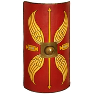 Roman Shield (Scutum) With Leather Belt