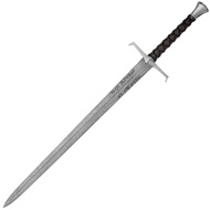 King Arthur Damascus Steel Blade Sword with Leather